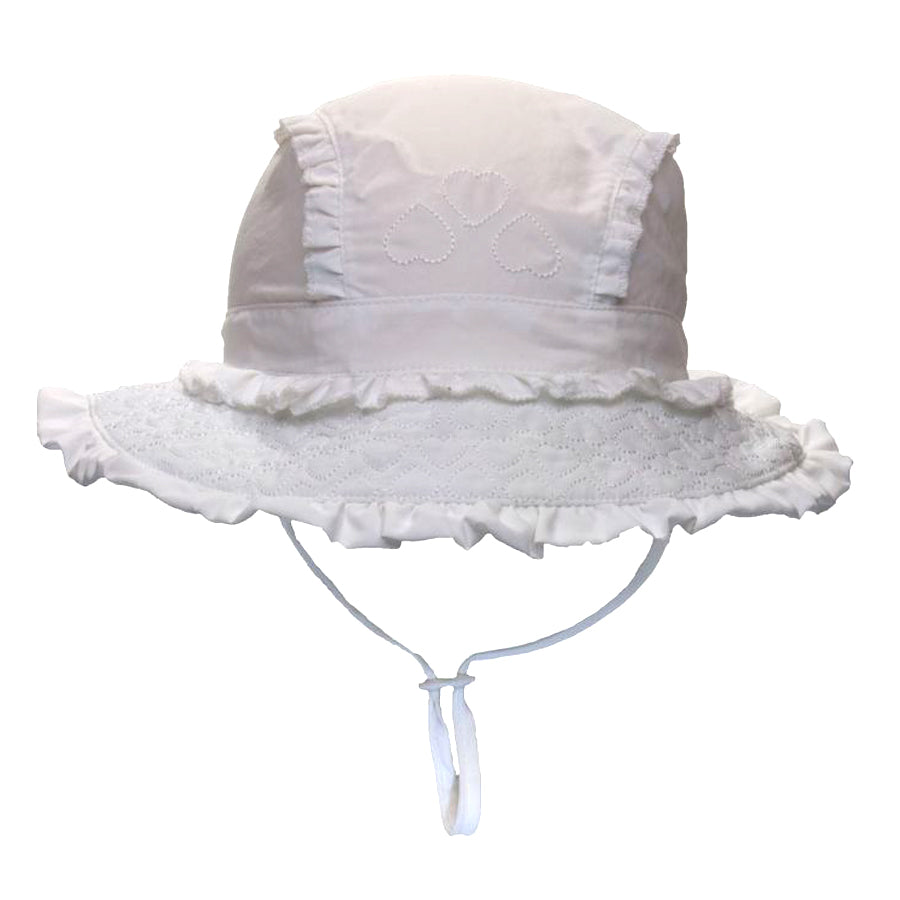 Girls UV Quick Dry Sun Hat - White-Calikids-Joanna's Cuties