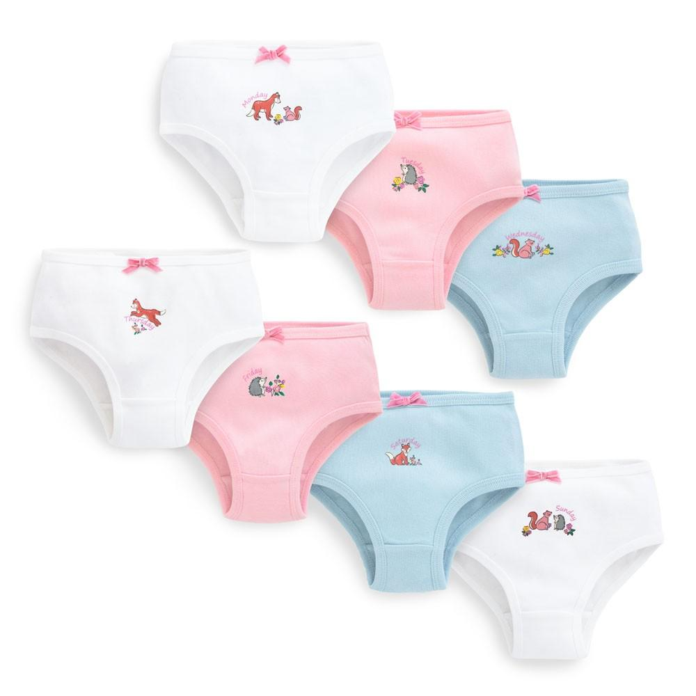 Girls' Woodland 7-Days Panties Set - JoJo Maman Bebe - joannas-cuties