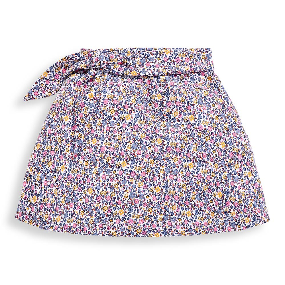 Girls' Yellow Ditsy Pretty Printed Skort-JoJo Maman Bebe-Joanna's Cuties