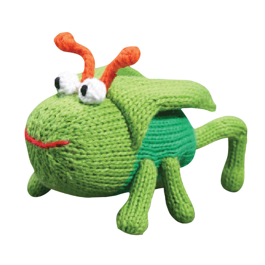 "Gordon The Grasshopper Rattle - 5"" - Zubels - joannas-cuties"