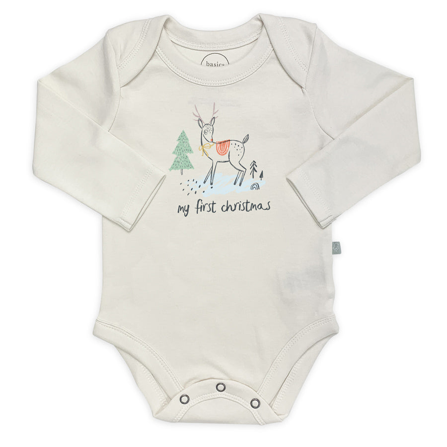 Graphic Bodysuit - My First Christmas-Finn + Emma-Joanna's Cuties