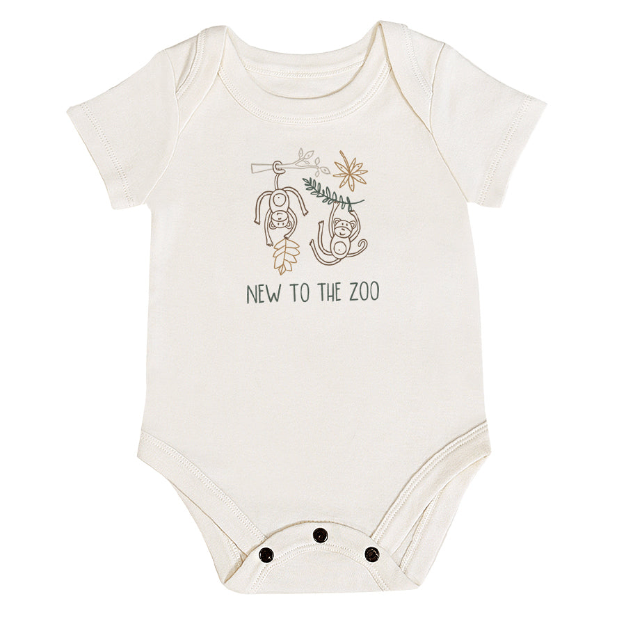 Graphic Bodysuit - New To The Zoo-Finn + Emma-Joanna's Cuties