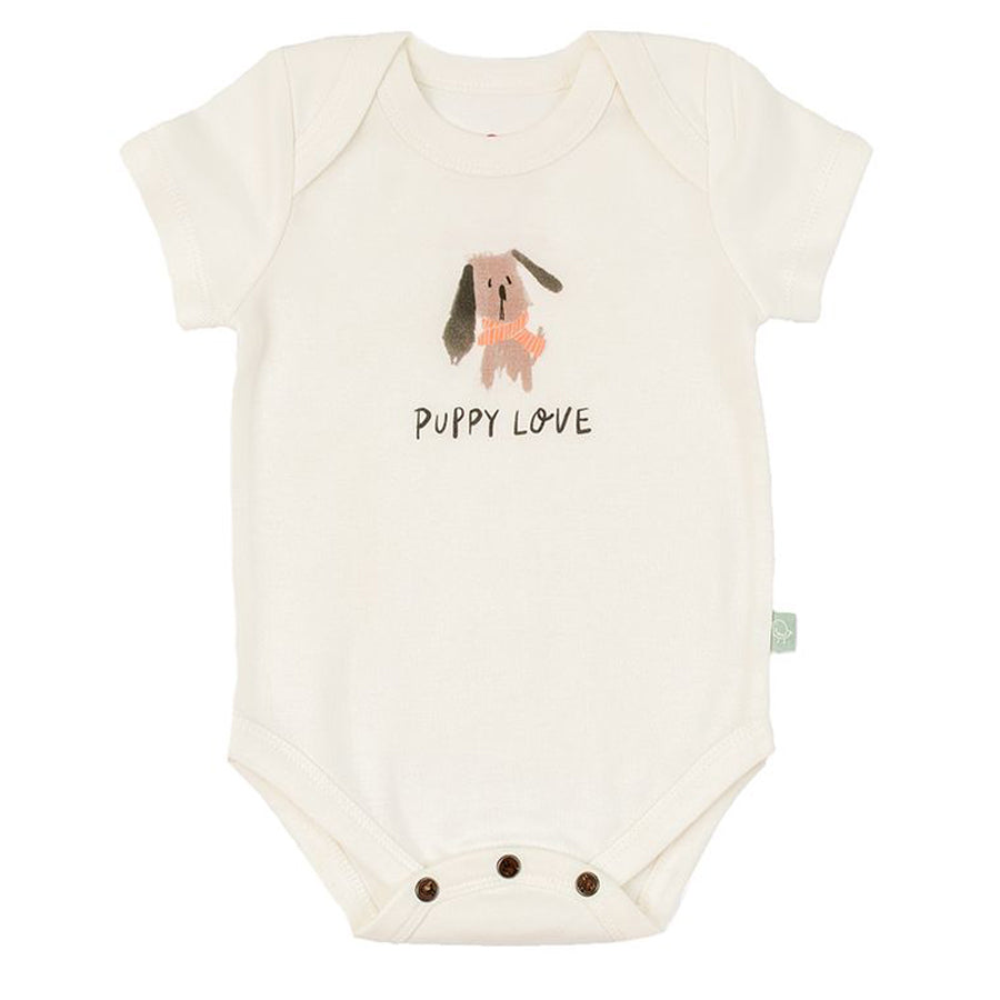Graphic Bodysuit - Puppy Love-Finn + Emma-Joanna's Cuties