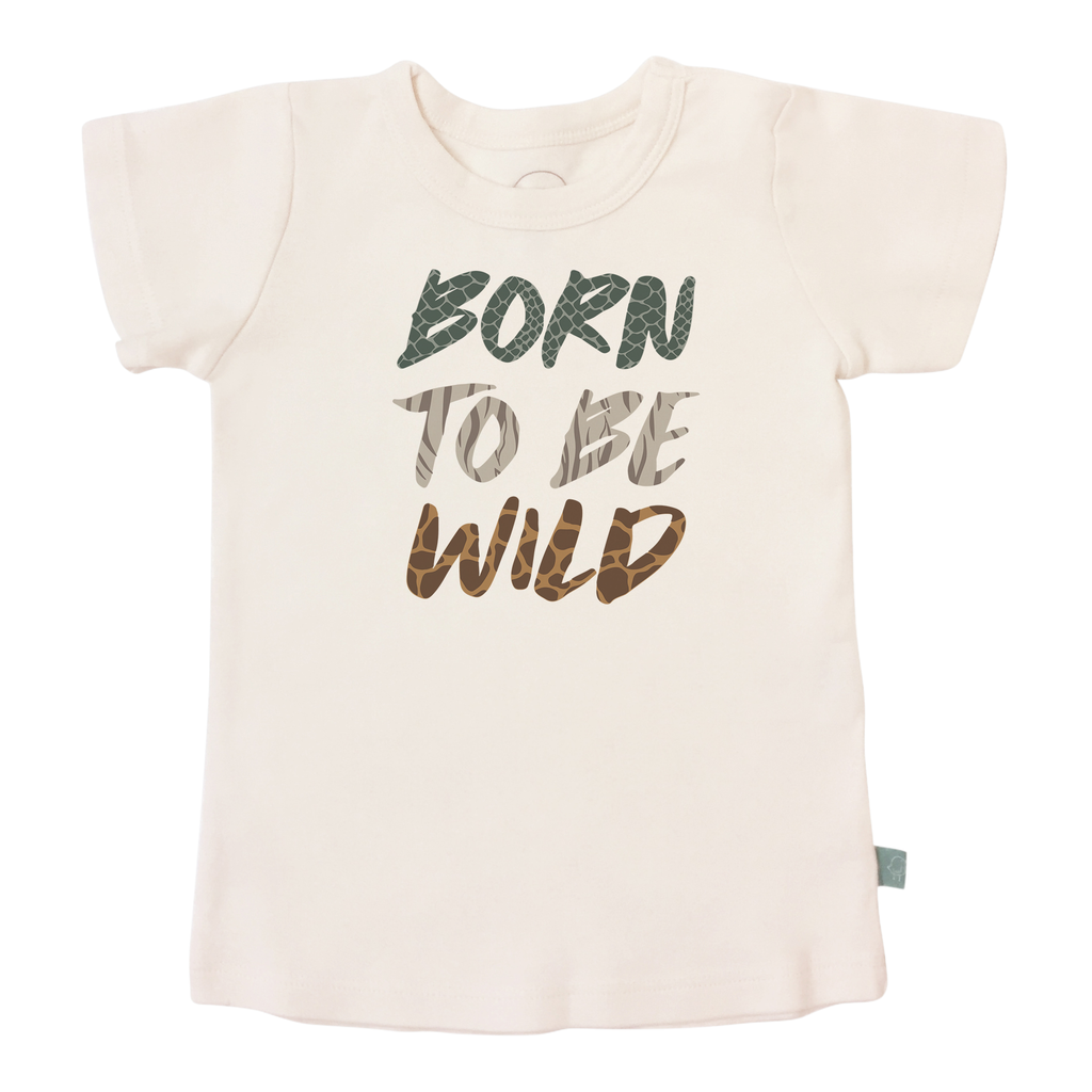 Graphic Tee - Born To Be Wild-Finn + Emma-Joanna's Cuties