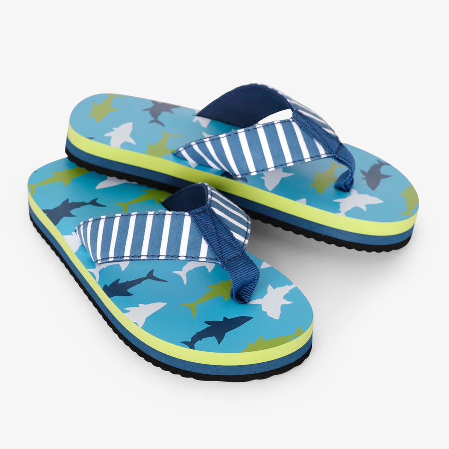 Great White Sharks Flip Flops-Hatley-Joanna's Cuties