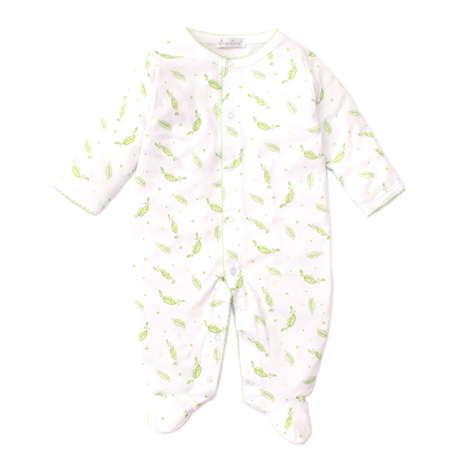Green Peas Print Footie