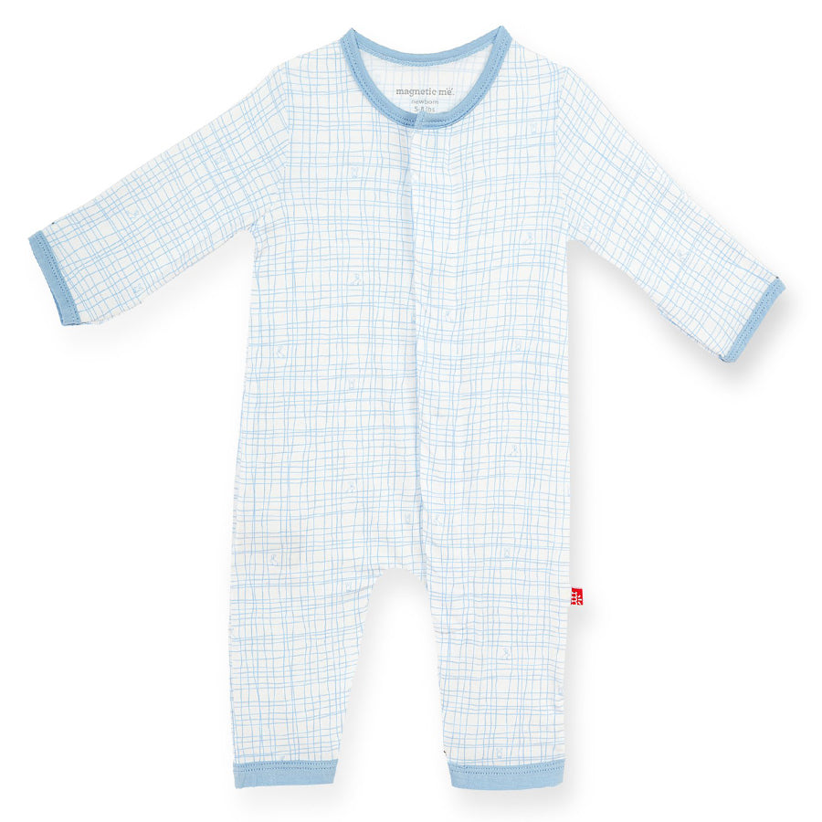 Greenwich Plaid Modal Magnetic Coverall