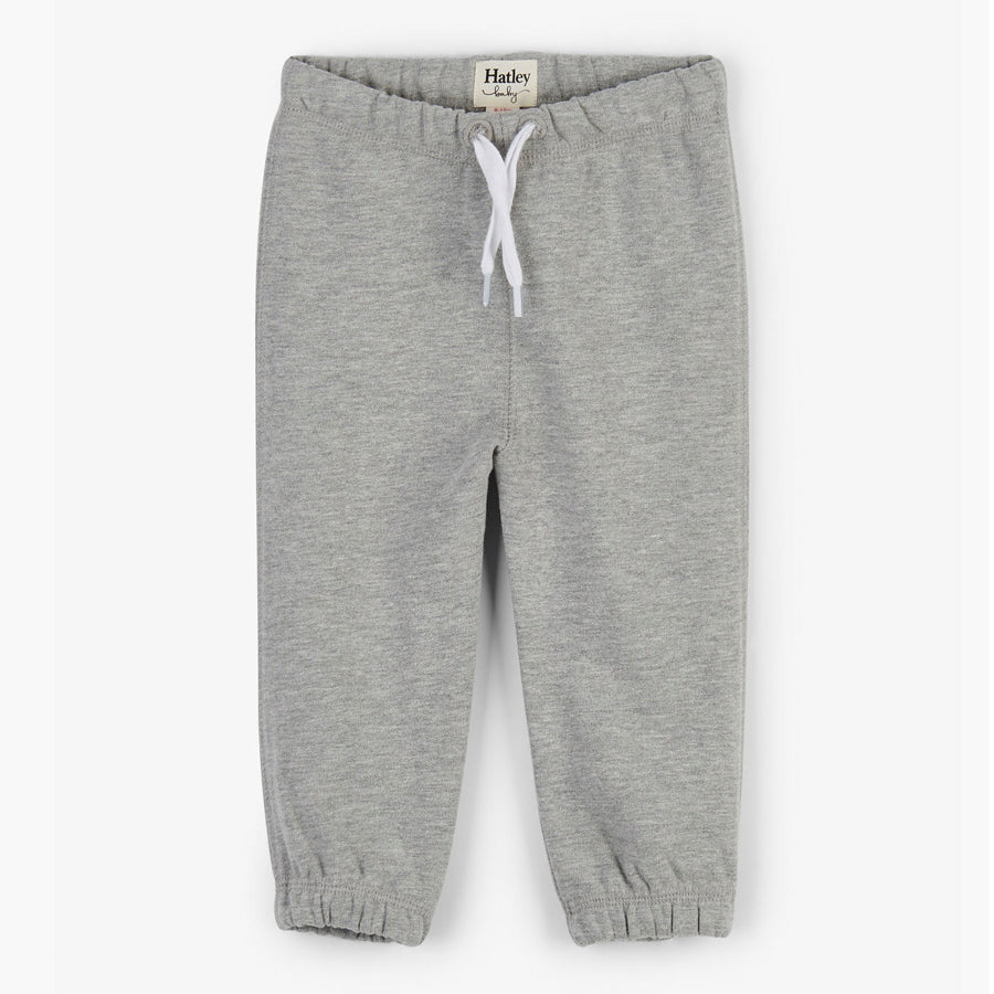 Grey French Terry Baby Joggers-Hatley-Joanna's Cuties