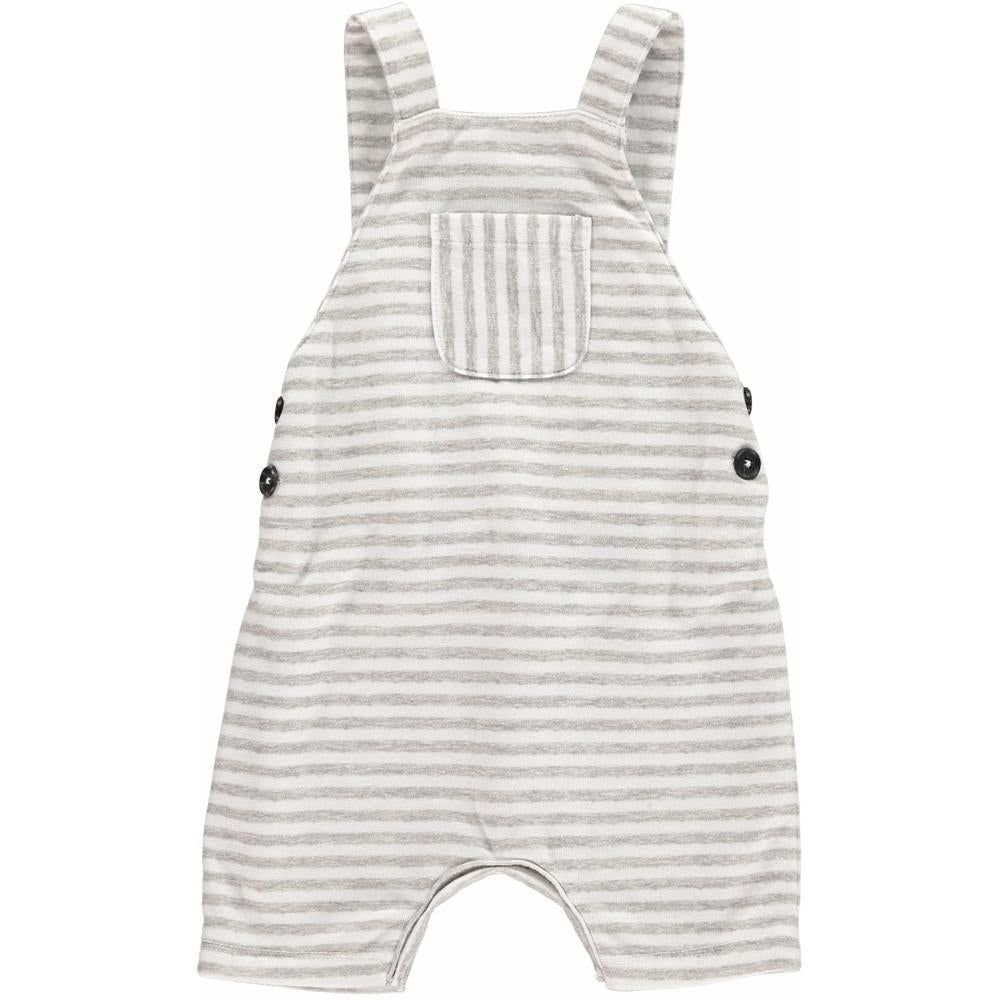 Grey Striped Shortie Overall - Me + Henry - joannas-cuties