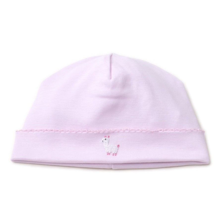 Hand Embroidered Premier Llama Family Pink Hat - Kissy Kissy - joannas-cuties