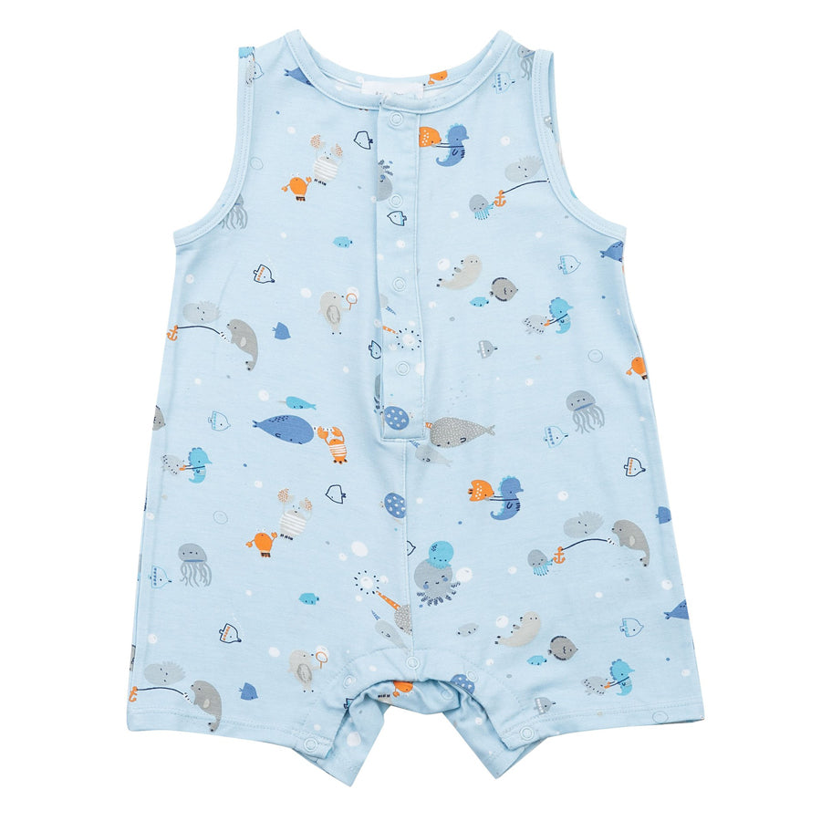 Happy Ocean Sleeveles Shortie Romper-Angel Dear-Joanna's Cuties