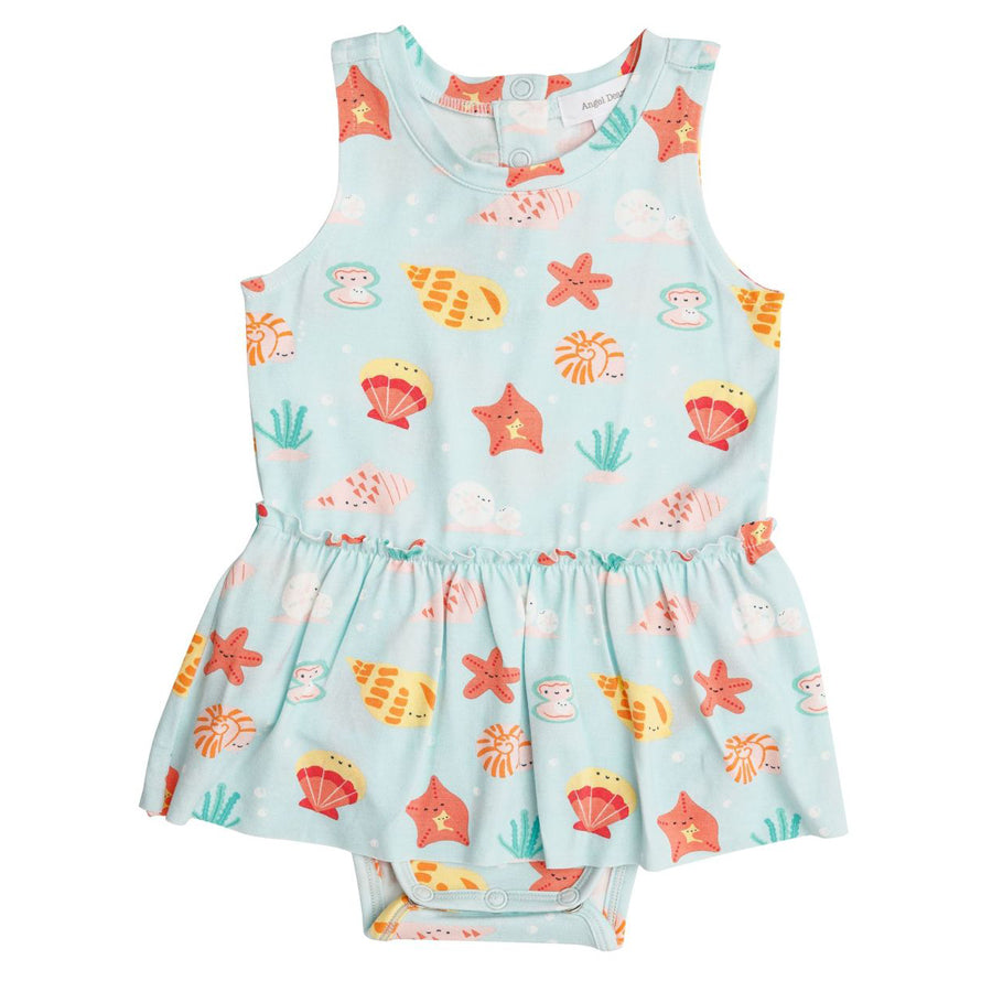 Happy Shells Bodysuit with Skirt