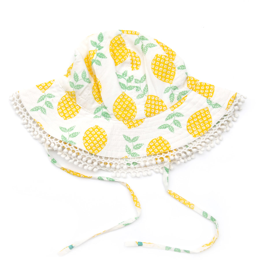 Beach Hat - Frill Lemon-Almirah-Joanna's Cuties