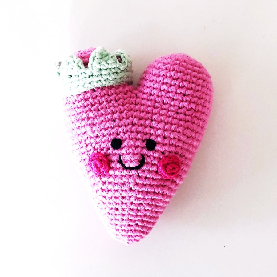 Heart Rattle - Pink-Pebble-Joanna's Cuties