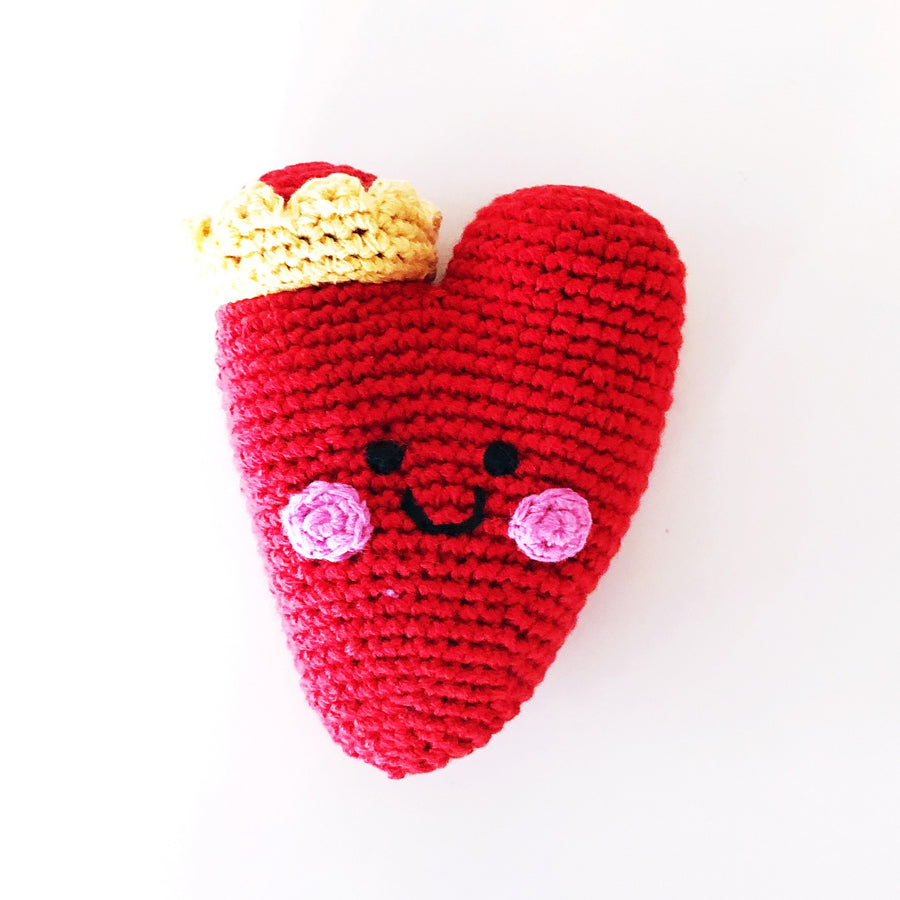 Heart Rattle - Red-Pebble-Joanna's Cuties
