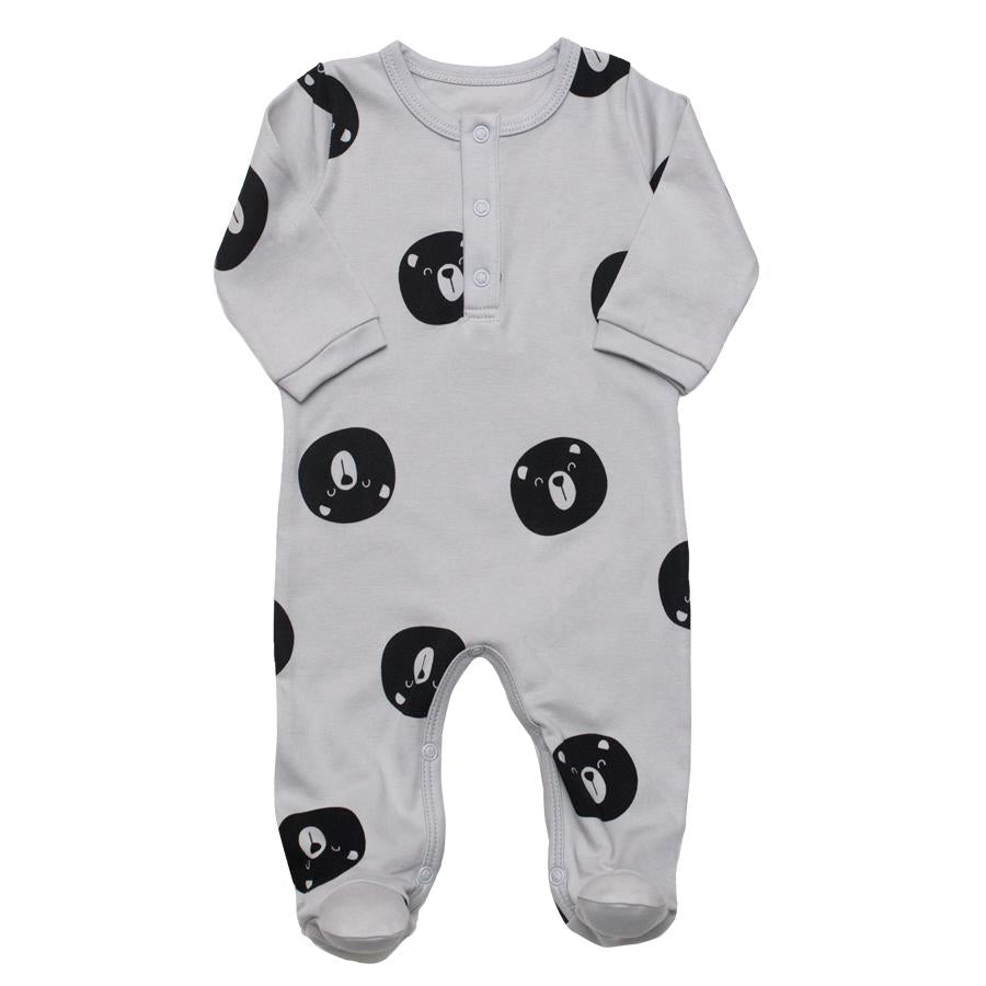 Henley Footie Bears - Grey - Tun Tun - joannas-cuties