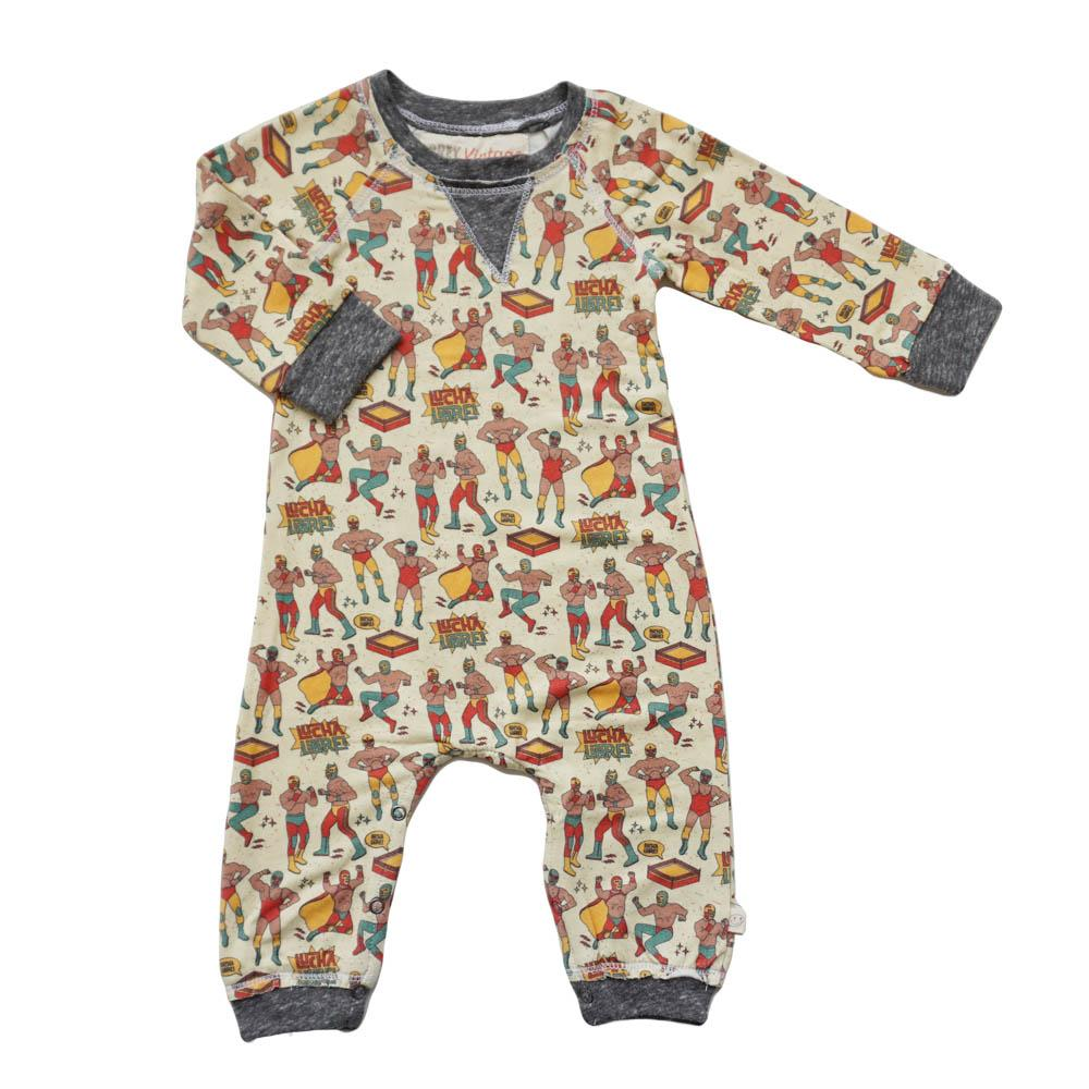 Henry Boys Romper Lucha Libre-Miki Miette-Joanna's Cuties