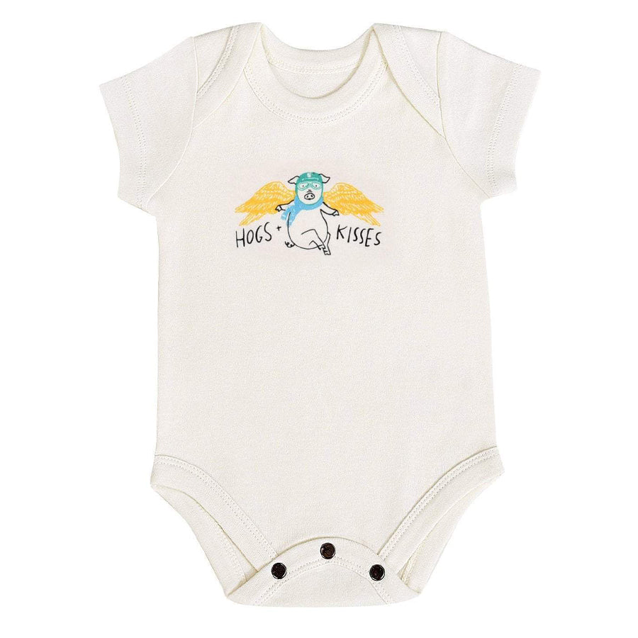 Hogs Kisses Graphic Bodysuit-Finn + Emma-Joanna's Cuties