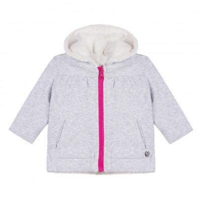 Hooded Baby Reversible Jacket, 3 Pommes - Joanna's Cuties