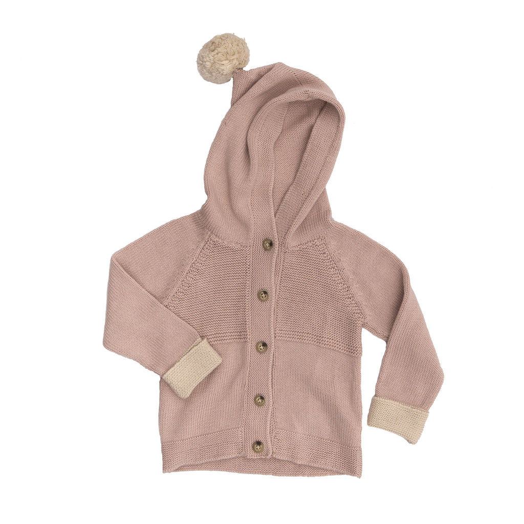 Hooded Cardigan - Dustyrose - Tun Tun - joannas-cuties