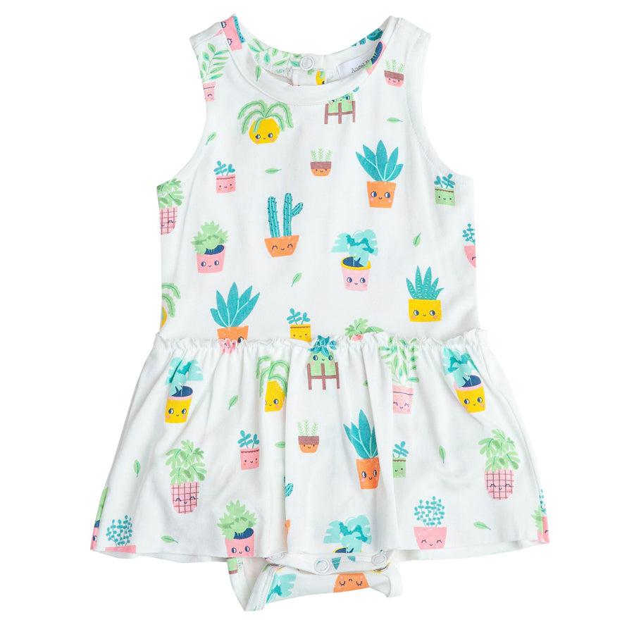 House Plant Bodysuit With Skirt-Angel Dear-Joanna's Cuties