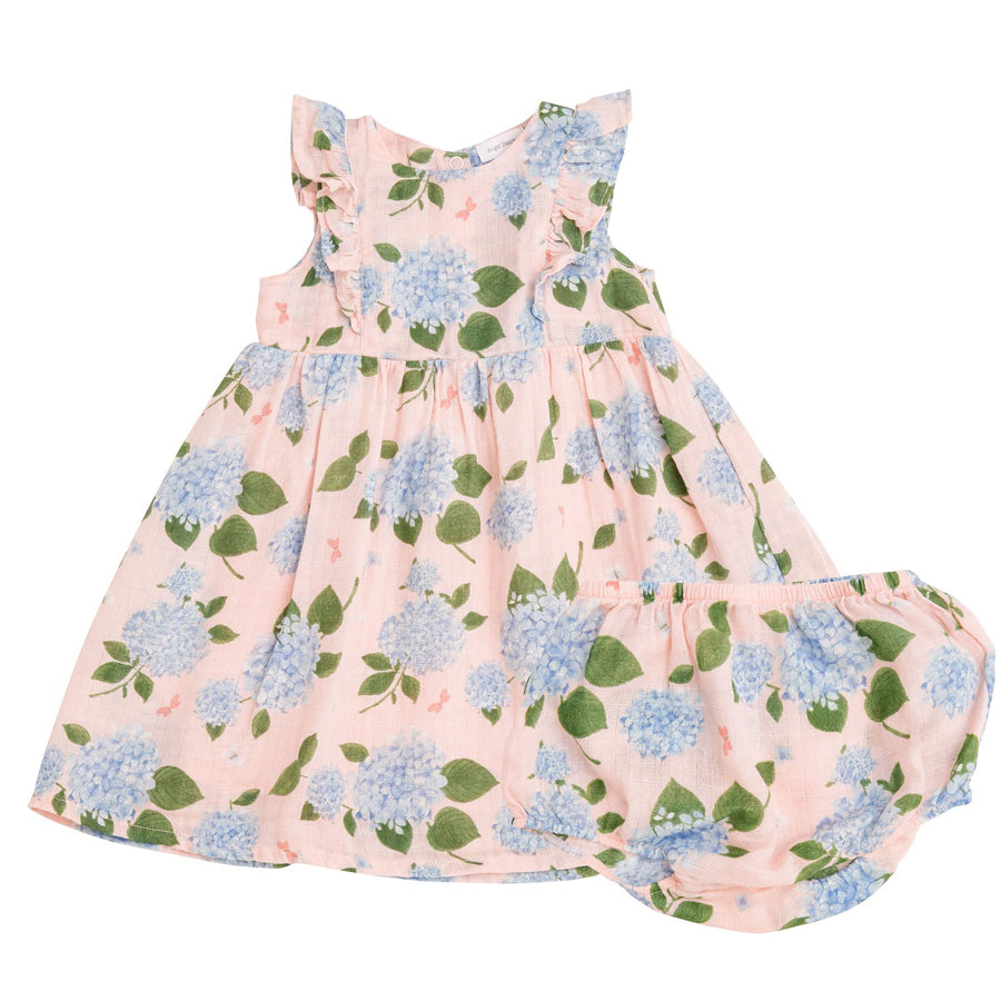 Ruffle Dress And Daper Cover - Hydrangea
