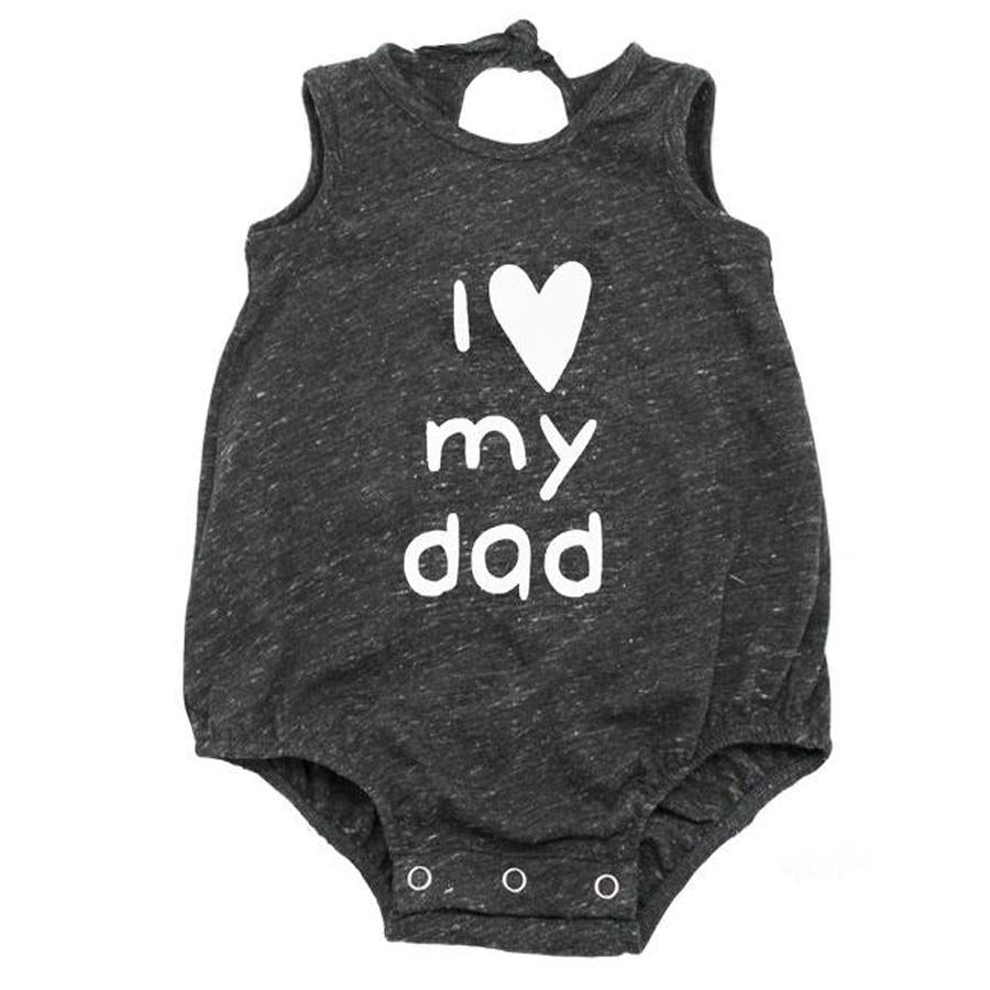 """I Love My Dad"" White Ink Tri-Blend Bubble - Oh Baby - joannas-cuties"