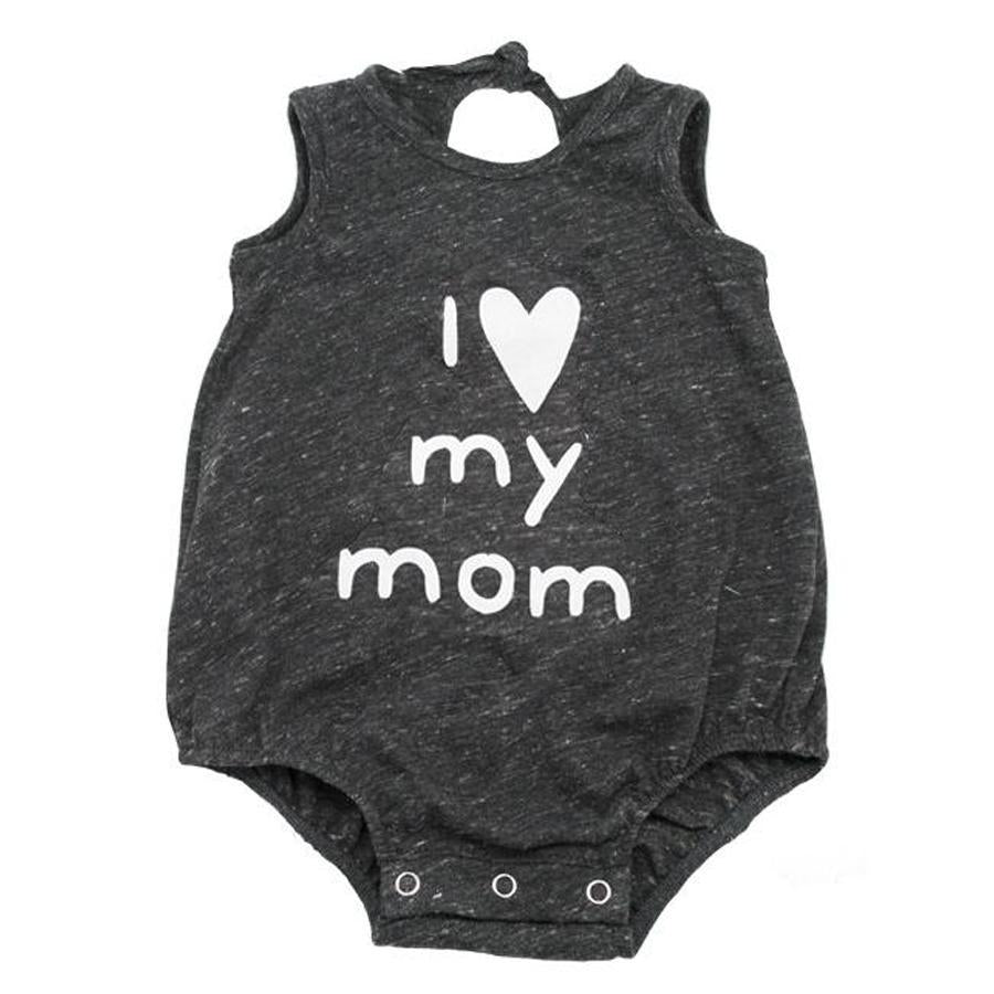 """I Love My Mom"" White Ink Tri-Blend Bubble - Oh Baby - joannas-cuties"