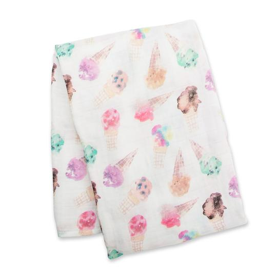Ice Cream Swaddle Blanket-Lulujo-Joanna's Cuties