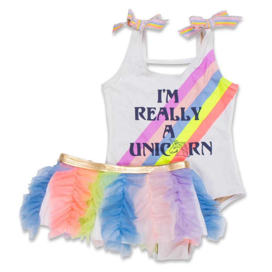 I'm Really a Unicorn Scoop Swimsuit Set (Unicorn changes color in the sun), Shade Critters - Joanna's Cuties