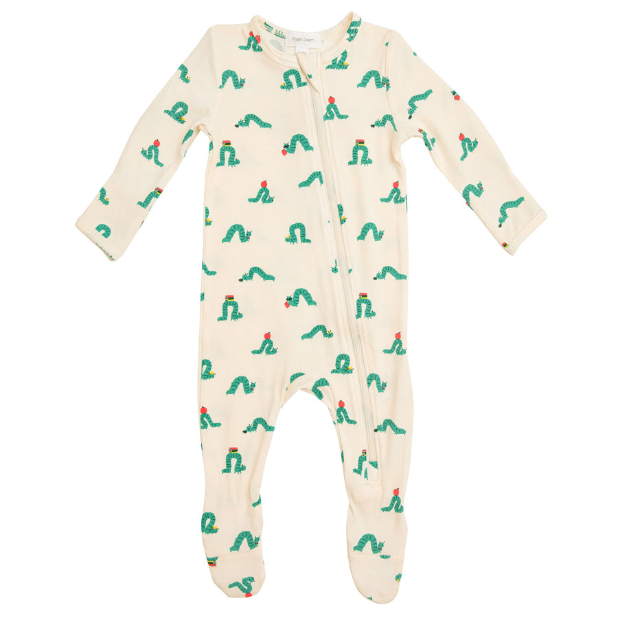 Inchworm Zipper Footie-Angel Dear-Joanna's Cuties