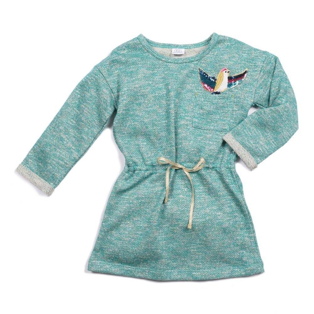Jasmine Teal Terry Dress - EGG by Susan Lazar - joannas-cuties