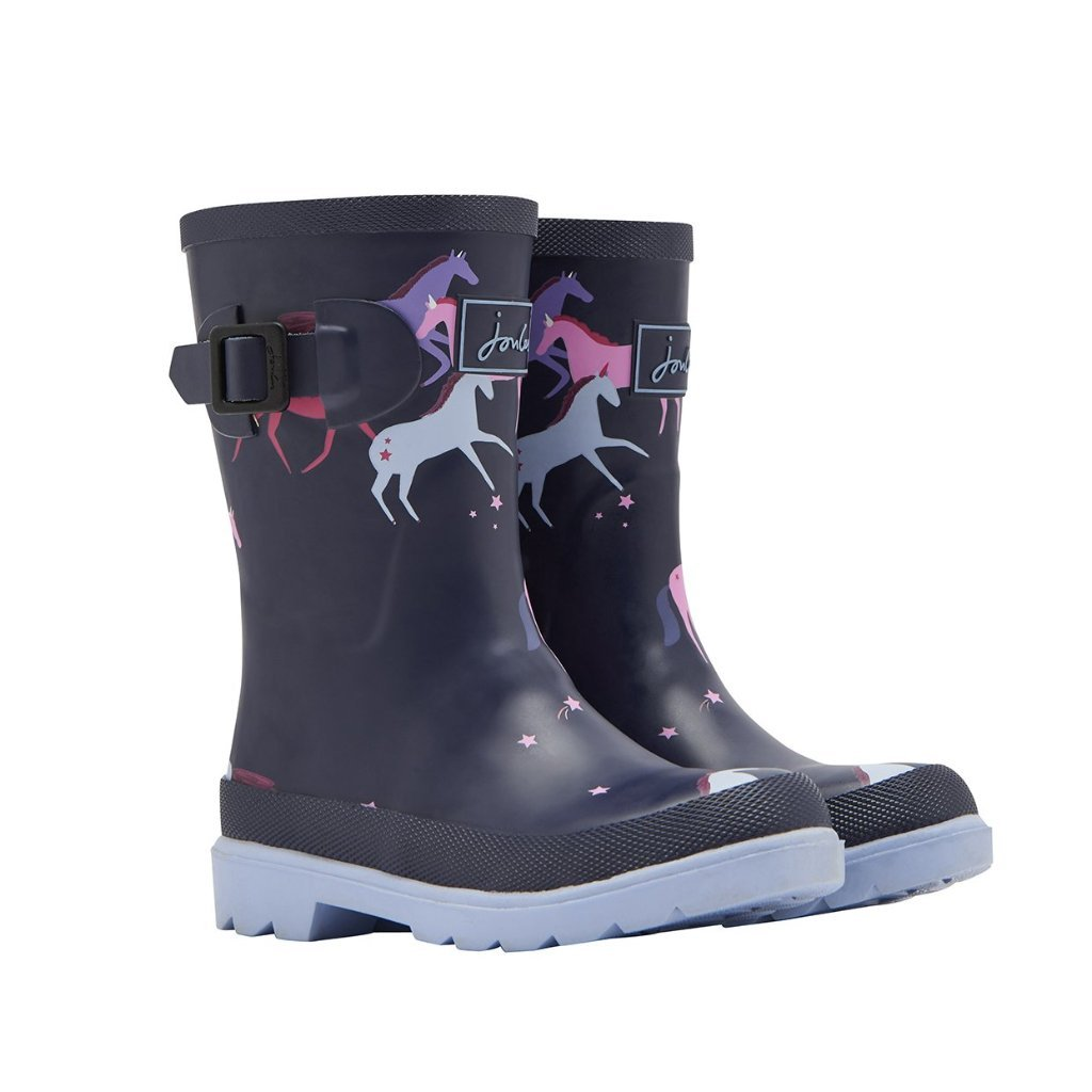 Joules Printed Wellies - Navy Magical Unicorn - Joules - joannas-cuties
