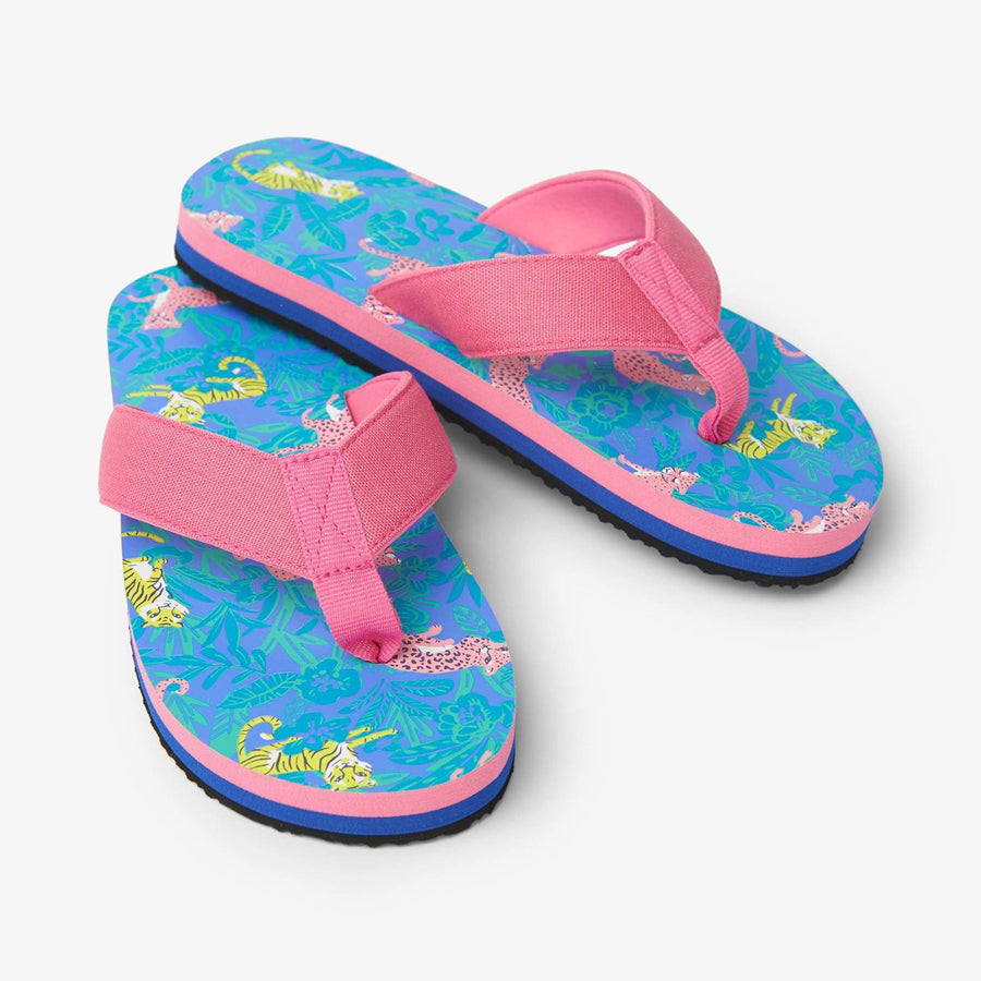 Jungle Cats Flip Flops-Hatley-Joanna's Cuties