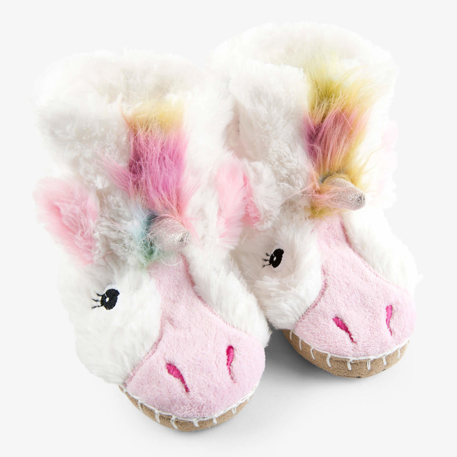 Unicorn Kids Fuzzy Slouch Slippers-Hatley-Joanna's Cuties