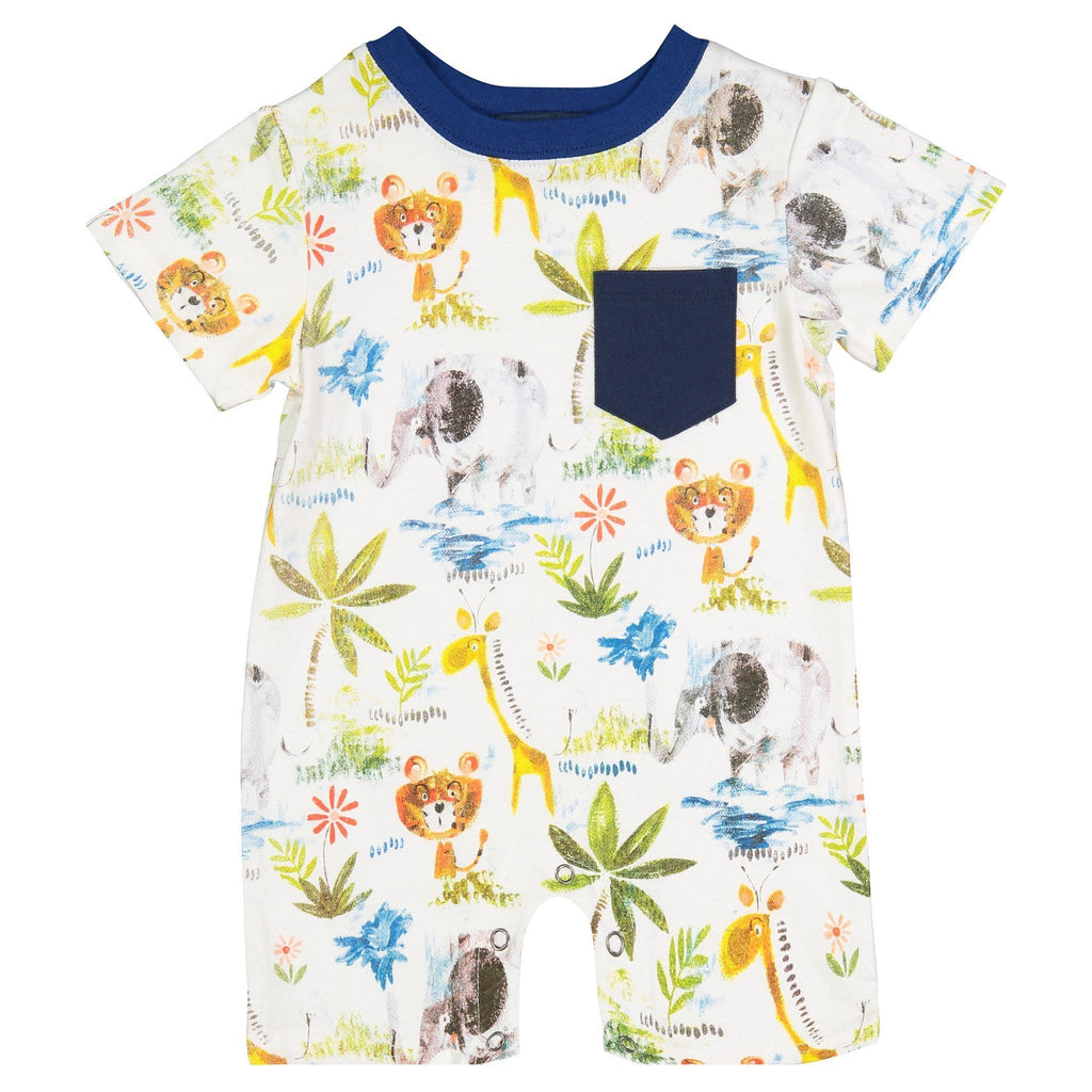 King of The Jungle Romper - Andy & Evan - joannas-cuties