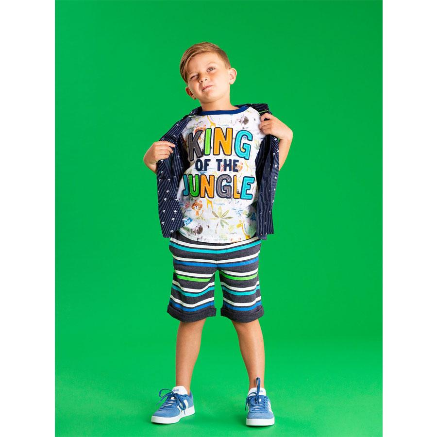 King of the Jungle with Applique Felt Letters Graphic Tee - Andy & Evan - joannas-cuties