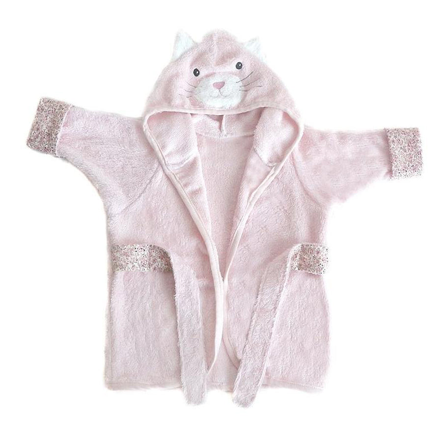 Kitty Viscose Bamboo Pink Baby Robe-Mon Ami-Joanna's Cuties