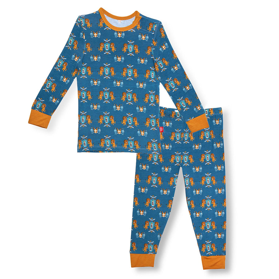 Knighty Night Modal Magnetic Toddler Pajama Set-Magnetic Me-Joanna's Cuties