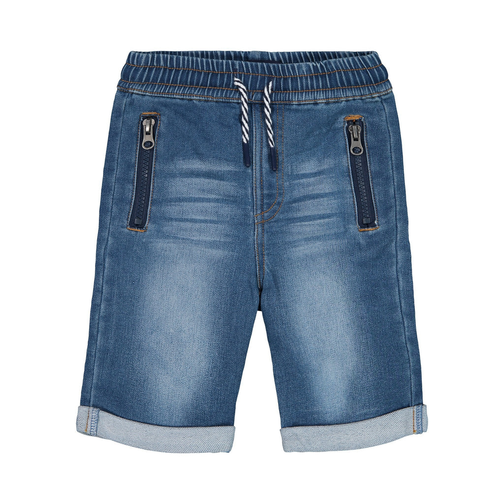 Knit Denim Jogger Shorts - Andy & Evan - joannas-cuties