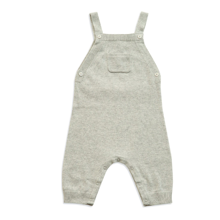 Knit Overall Heather - Light Grey - Angel Dear - joannas-cuties