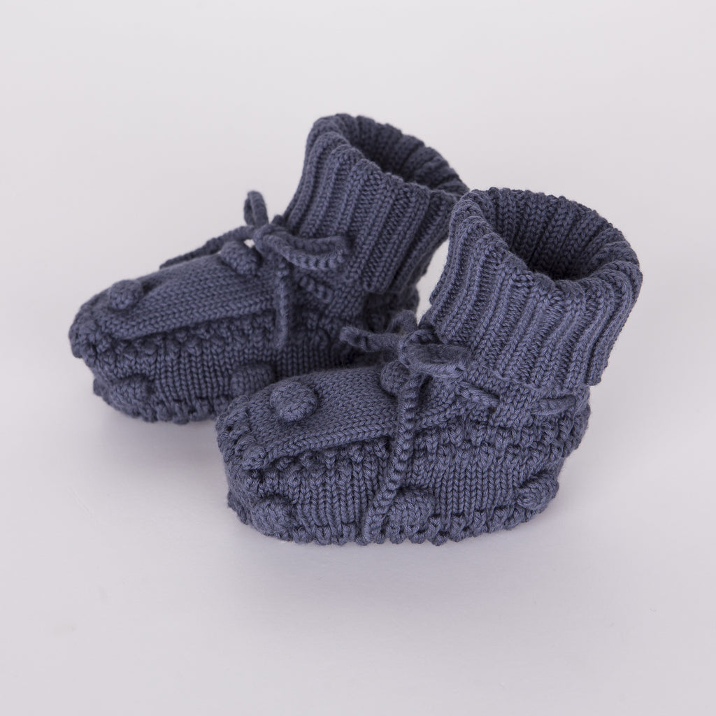 Knitted Booties - Blue - Tun Tun - joannas-cuties