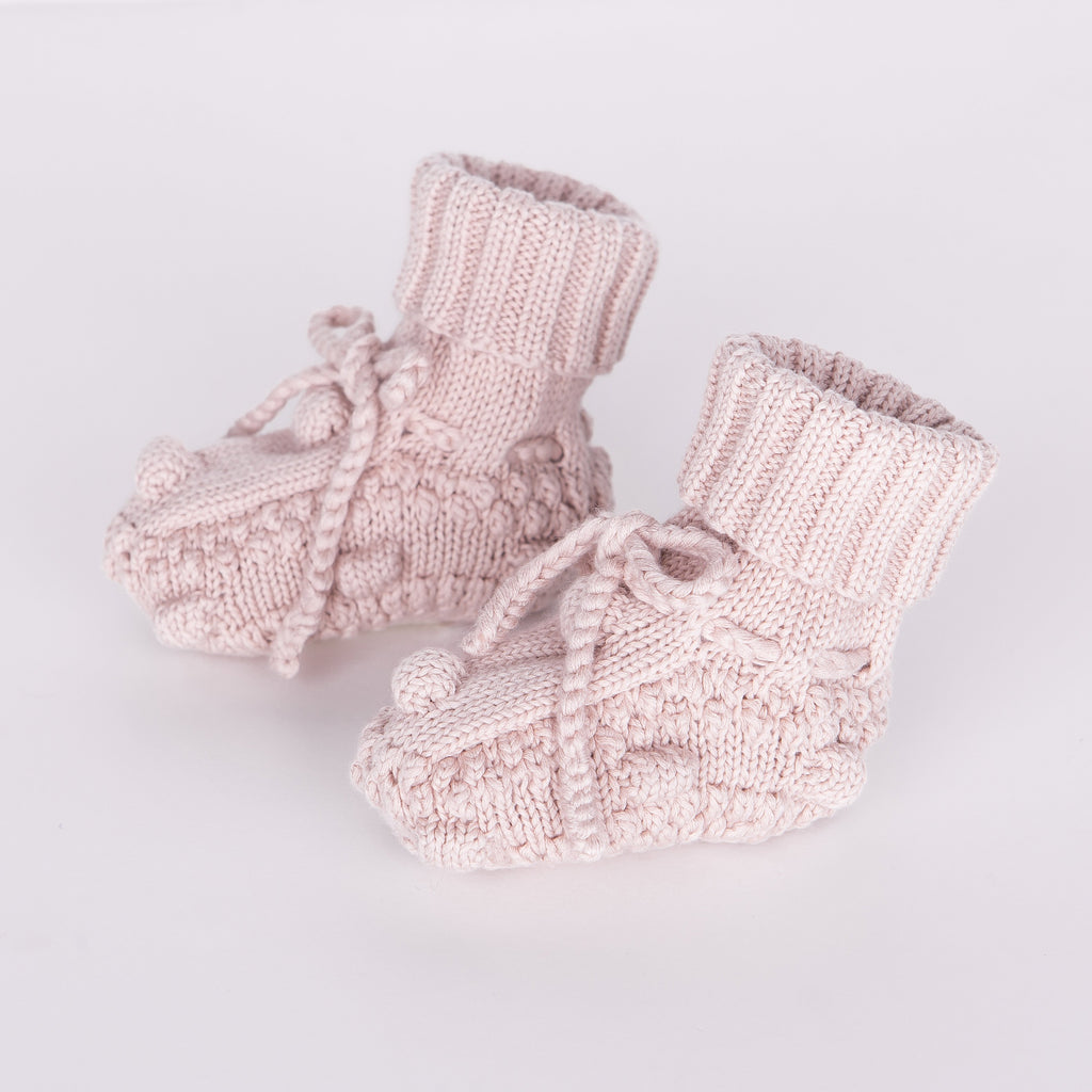 Knitted Booties - Dustyrose - Tun Tun - joannas-cuties