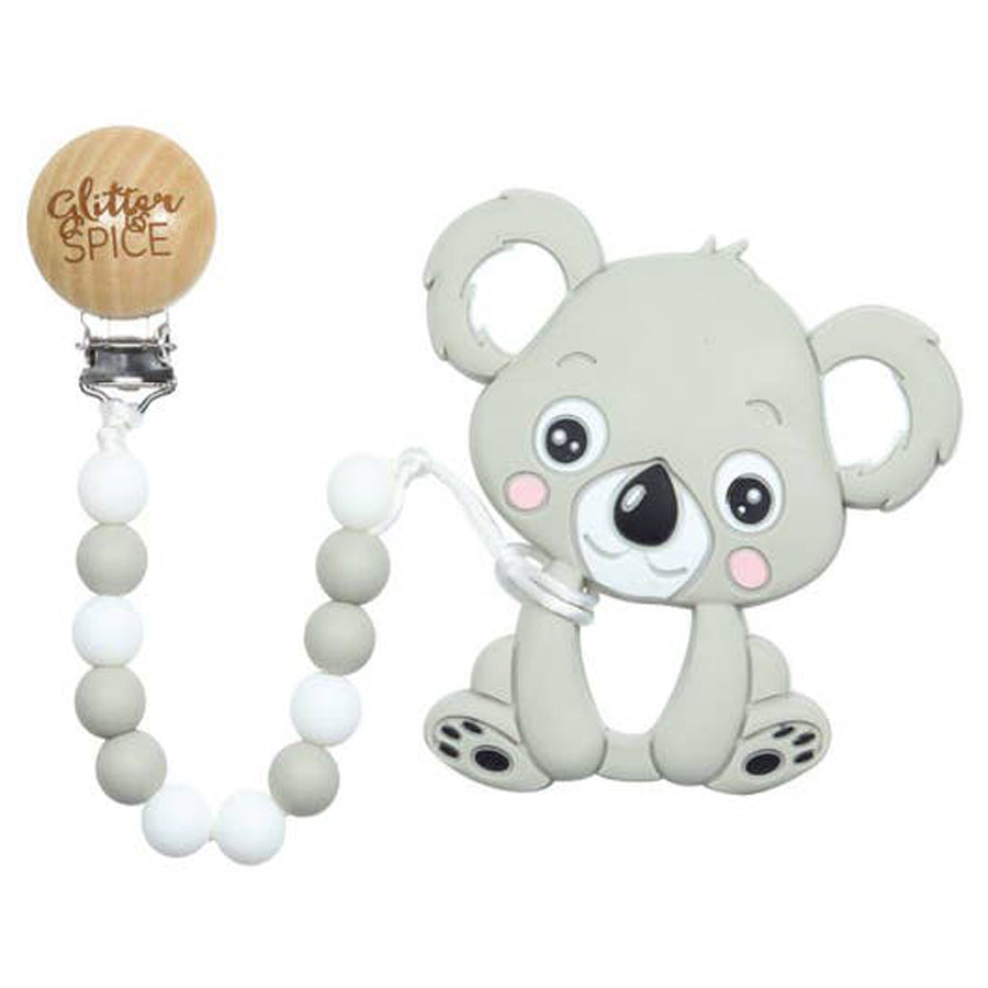 Koala Silicone Teether - Original-Glitter & Spice-Joanna's Cuties
