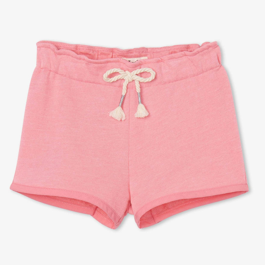 Light Pink French Terry Paper Bag Shorts-Hatley-Joanna's Cuties