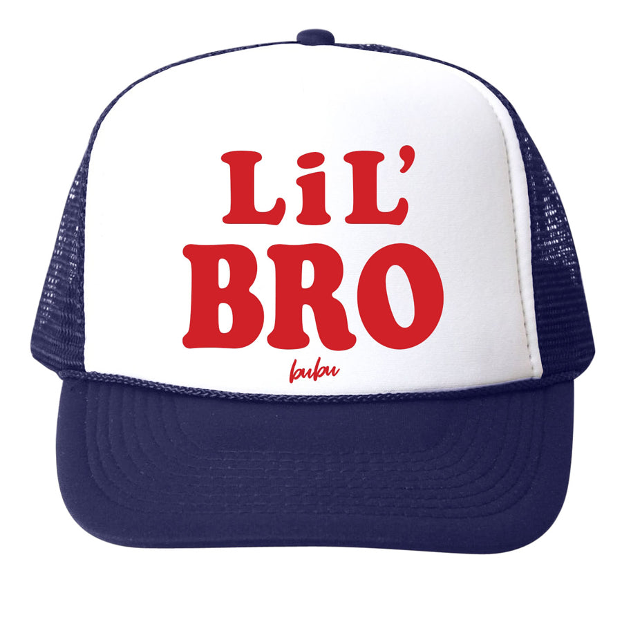 Lil Bro Navy Trucker Hat