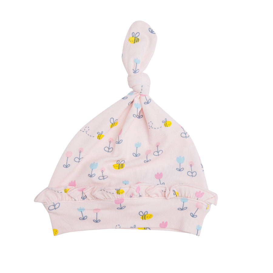 Little Bee Knotted Hat - Pink