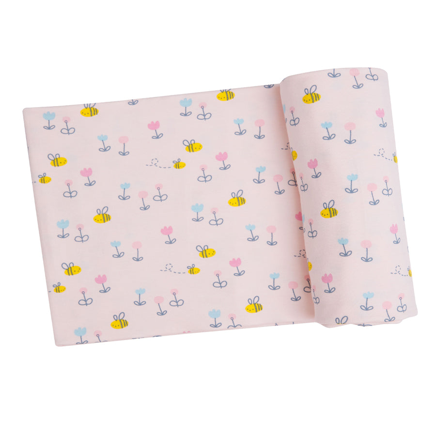 Little Bee Swaddle Blanket - Pink
