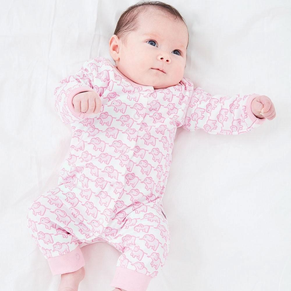 Little Elephants Footless Baby Romper - JoJo Maman Bebe - joannas-cuties