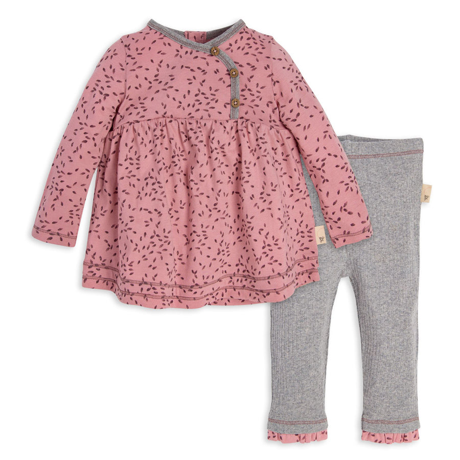 Little Seedlings Organic Tunic & Pant Set-Burt's Bees Baby-joannas_cuties
